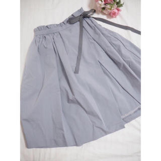 トランテアンソンドゥモード(31 Sons de mode)の【新品タグ付】31 Sonds mode♡サイドリボンラップ風スカート(ひざ丈スカート)