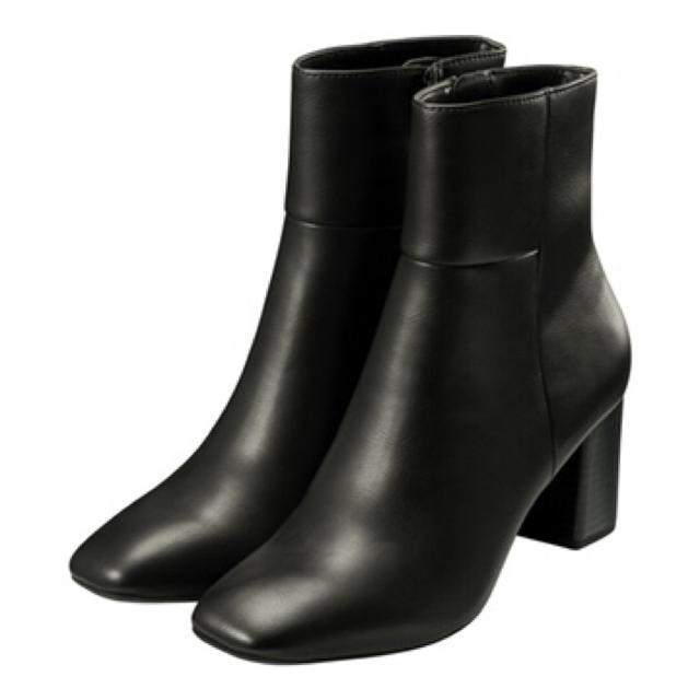 GU(ジーユー)のGU スクエアトゥヒールブーツ レディースの靴/シューズ(ハイヒール/パンプス)の商品写真