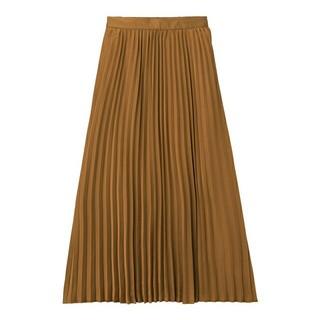 GU - ジーユー プリーツロングスカート ブラウン XL