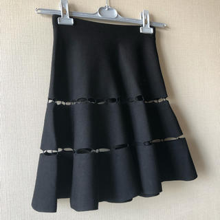 ルシェルブルー(LE CIEL BLEU)の美品!ルシェルブルー フレアースカート インナー付き(ミニスカート)