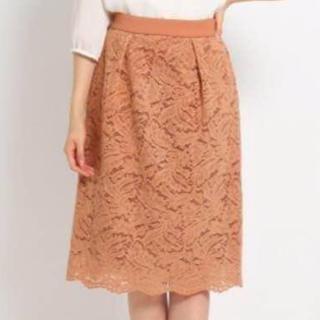 スーナウーナ(SunaUna)のスーナウーナ レーススカート オレンジ(ひざ丈スカート)