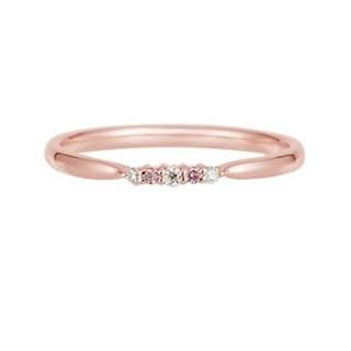 ピンクダイヤ リング(リング(指輪))