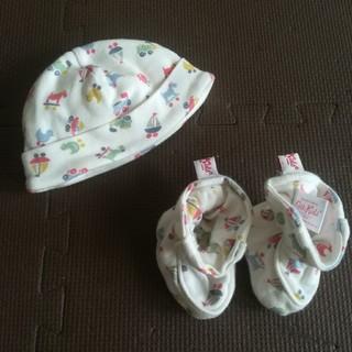 キャスキッドソン(Cath Kidston)のキャスキッドソン ベビー帽子&靴下 新生児(帽子)