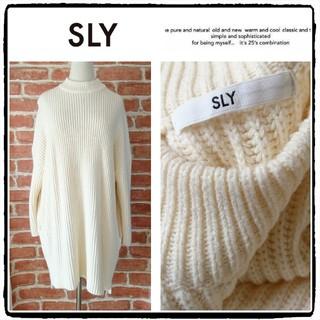 SLY - SLY*スライ【美品】ボトルネックニットチュニックワンピース