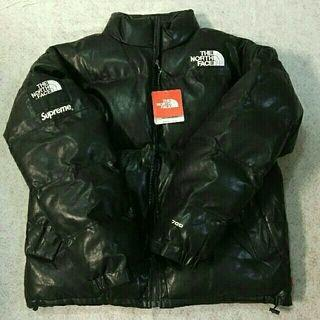Supreme - サイズM Supreme North Face Leather Nuptse