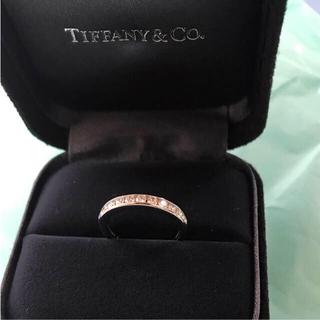 Tiffany & Co. - 傷等なくピカピカです* 3mm 11P ハーフサークル pt950 リング
