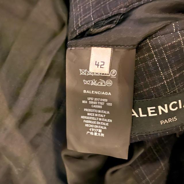 Balenciaga(バレンシアガ)のバレンシアガBALENCIAGAダブルコート42チェック新品未使用 メンズのジャケット/アウター(その他)の商品写真