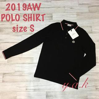 MONCLER - サイズS 今季最新作 モンクレール メンズ長袖ポロシャツ ブラック