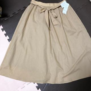 シマムラ(しまむら)のスカート ベージュ L(ひざ丈スカート)