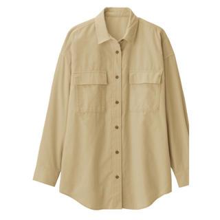 GU - GU コーデュロイオーバーサイズシャツ(長袖)