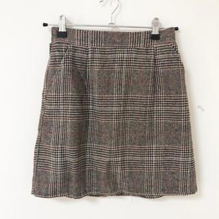 グレイル(GRL)の美品*GRL*チェック柄台形スカート(ミニスカート)