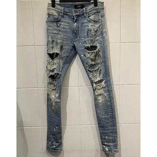 Saint Laurent -  AMIRI SUPER DESTROY PAINTER DENIM