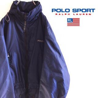 Ralph Lauren - 古着 90s 美品 ポロスポーツ ナイロンジャケット ラルフローレン 刺繍
