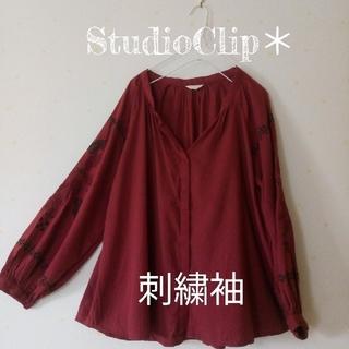 STUDIO CLIP - スタジオクリップ*刺繍トップス