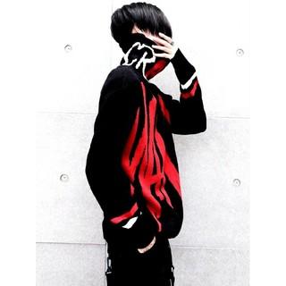 ◆ストリート系ネックニット◆ハイネック ジャガードロゴニット*オーバーサイズ(ニット/セーター)