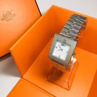 Hermes - 【美品 正規品】超希少 エルメス 腕時計 Hウォッチ スクエア シルバー 可動品