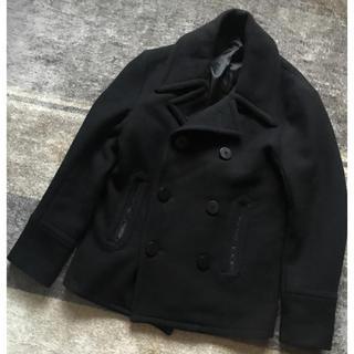 ビームス(BEAMS)のPERBACCO×BEAMS コラボ メルトン ピーコート ブラック ジャケット(ピーコート)