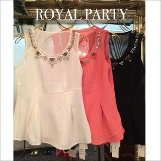 ROYAL PARTY - ROYAL PARTY ボリュームジュエル トップス♡デュラス RESEXXY