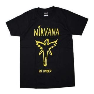♪ メンズ ニルヴァーナ Tシャツ IN UTERO ブラック ニルバーナ L(Tシャツ/カットソー(半袖/袖なし))