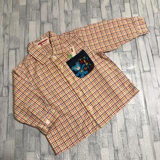 ミキハウス(mikihouse)のミキハウス チェック 長袖 シャツ  80(シャツ/カットソー)