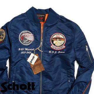 ショット(schott)のSchott NYC ショット★M ■刺繍 MA-1 フライト ジャケット(フライトジャケット)