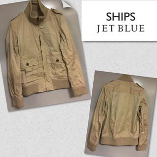 ★ ships jet blue リブ  ブルゾン★