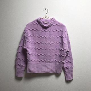ジーユー(GU)の新品 GU ニット セーター パープル(ニット/セーター)