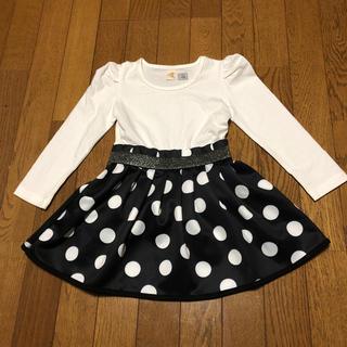 プティマイン(petit main)の韓国子供服 長袖ワンピース100 キッズドレス ハロウィン衣装(ドレス/フォーマル)