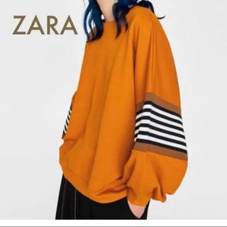 ZARA - ZARA ボリューム スウェット トレーナー
