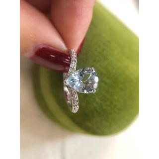 アクアマリン ダイヤモンド リング 新品 K18(リング(指輪))