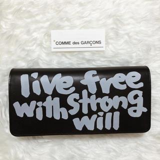 コムデギャルソン(COMME des GARCONS)のメッセージプリント ウォレット★定価¥41,580 ⇨ ¥38,000(長財布)