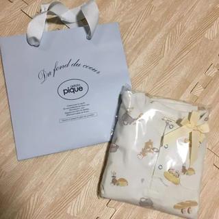 ジェラートピケ(gelato pique)の新品未開封☆ラッピング済☆アニマルクッキング柄 トップス パンツ セット XS(パジャマ)