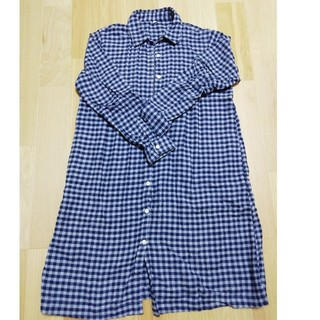 MUJI (無印良品) - チェックシャツ ワンピース マタニティ