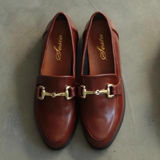 美品◆SESTO◆マニッシュビット付きローファーパンプス(ローファー/革靴)