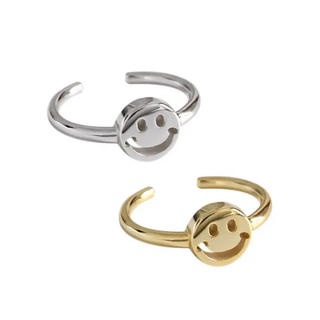 silverニコちゃんゴールドコーティングリング新品未使用(リング(指輪))