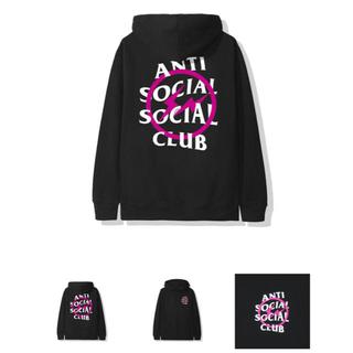 FRAGMENT - anti social social club fragment パーカー M