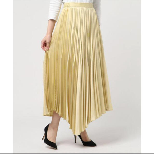 FRAY I.D(フレイアイディー)のFRAY I.D サテンプリーツスカート レディースのスカート(ロングスカート)の商品写真