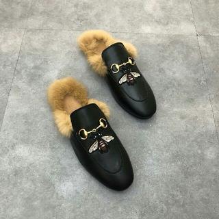Gucci - Gucci ファー スリッポン