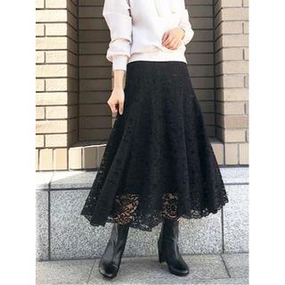31 Sons de mode - ☆19AW完売色 31 Sons de mode レースフレアスカート ブラック