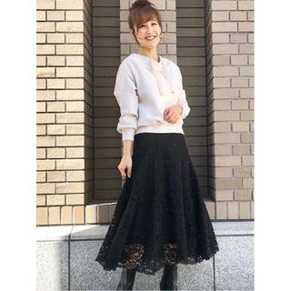 31 Sons de mode - M☆新作 完売色 31 Sons de mode レースフレアスカート ブラック