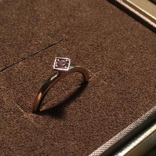 アガット(agete)のagete K10 スクエアトップリング(リング(指輪))