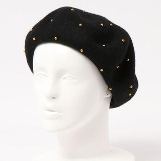 ローズバッド(ROSE BUD)のローズバッド スタッズ付ベレー帽(ハンチング/ベレー帽)