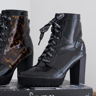 エイミーイストワール(eimy istoire)のdarich  DARLINGレースアップショートブーツ 新品(ブーツ)