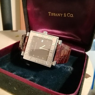 Tiffany & Co. - 美品。Tiffany & Co ティファニー アトラススクエア デイト付き腕時計
