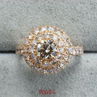 ダイヤ リング k18pg ピンクゴールド 合計1.5ct 新品 (リング(指輪))
