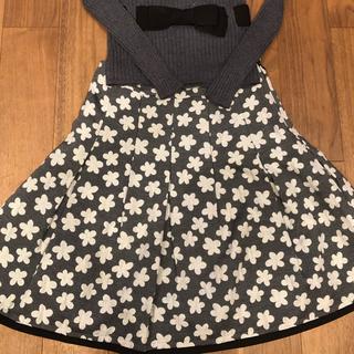 エムズグレイシー(M'S GRACY)のエムズグレーシー ハイネックりぼんセーター38&ラメ花柄スカート 40(セット/コーデ)