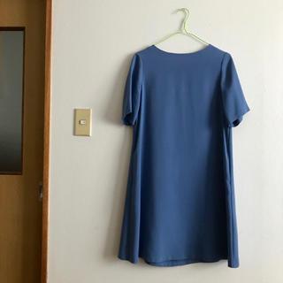 UNIQLO - 美品 ユニクロ クレープワンピース ブルー