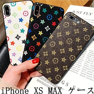 iPhone XS MAX ケース チェック柄 モノグラム デザイン 純正品質