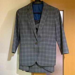 オリヒカ(ORIHICA)の【こぺろり様専用】オリヒカ グレー スーツ チェック 13号 七分袖(スーツ)