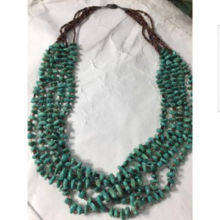 MALAIKA - ◆ インディアンジュエリー ◆ ターコイズ ネックレス 貝殻 シルバー